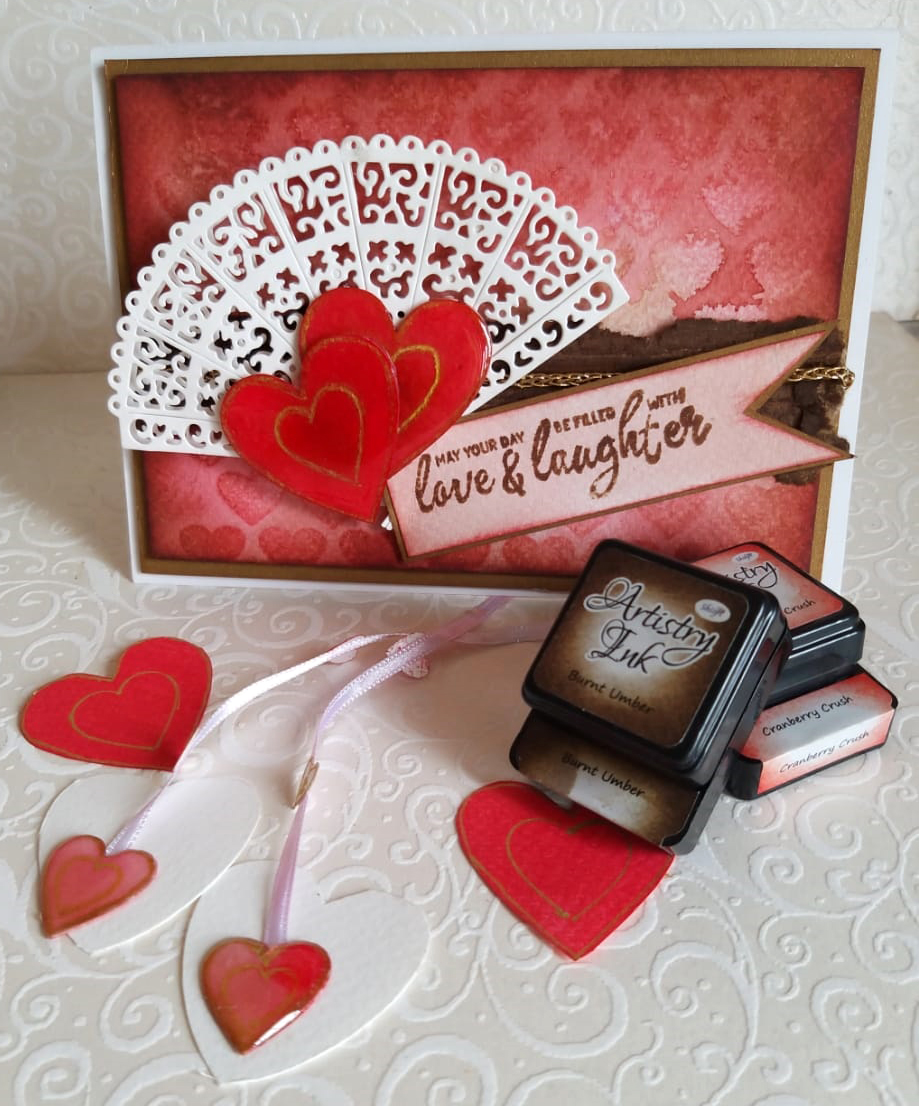 Shilpi Artistry Ink Valentines day card