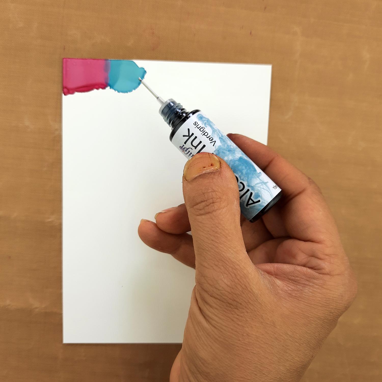 Shilpi Alcohol Ink valentine's day card